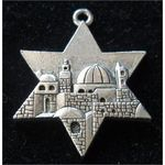 Pendant/Charm: Jerusalem Star, Silver 146340S