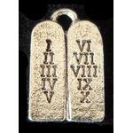 Charm: Small Silver Ten Commandments 14C023S