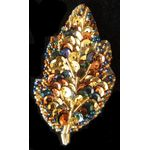 Jewish Applique: Autumn Leaf, Medium, Sew On 17SM1022M