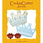 Jewish Baking Stencil: Purim Crowns, Set of 2 1808-CS070