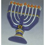Cake Decoration: Menorah Pop Top, set of 3 2024