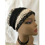 Pretied, chemotherapy hat in leather 265511186