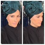 Chic head scarf, leatherette headscarf 498807599
