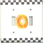 Bagel Switchplate, double 6192DB