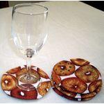 Bagel Coasters on White, S/4, last set 7680W