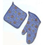 Colorful STAR OF DAVID Potholder/ Mitt , last set 7701SET
