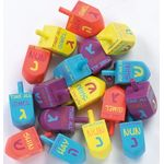Painted Wooden Dreidel, English letter name plus instructions on each side 9859