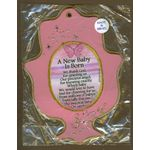 Jewish Gift Item: New Baby Girl Blessing from Israel MJ609