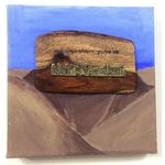 Jerusalem painting acrylic on canvas integrated with wood and metal Judaica painting 7 559558700