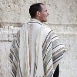 Jewish Gift, High Holidays, Jewish Prayer Shawl, Handwoven Tallit, Cotton Tallit, Wedding Tallit Set, Tallit For Man, White Prayer Shawl 93125231