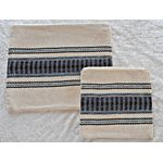 Judaica Gift, Tallit Bag, Tefillin Bag, Cotton Tefillin Bag, Jewish Gift, Bar Mitzvah Gift, Prayer Bag, Woven Tallit Bag, Tefillin Case 649828485