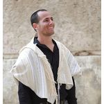 Jewish Gift, High Holidays, Jewish Prayer Shawl, Handwoven Tallit, Cotton Tallit, Wedding Tallit Set, Tallit For Man, White Prayer Shawl 166072830