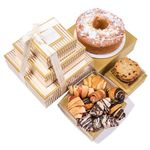 Gold Stripe Premium Apple Cake Rogelach Cookies Pastry Tower BB011