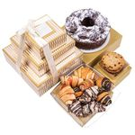 Gold Stripe Premium Chocolate Cake Rogelach Cookies Pastry Tower BB010
