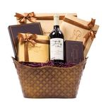 Stylish Elegant Signature Wine Chocolate Gift Basket WB007