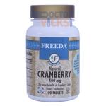 Freeda Vitamins - Cranberry 400 mg - 100 Tablets FV-4115-01