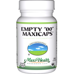 "Maxi Health - Empty ""00"" MaxiCaps - Extra Large Kosher Empty Vegetarian Capsules - 500 Capsules MH-3136-02"