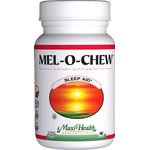 Maxi Health - Mel-O-Chew - Kosher Chewable Melatonin 1 mg - Berry Flavor - 200 Chewables MH-3147-02