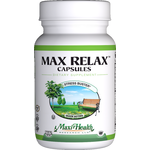 Maxi Health - Max Relax Capsules - Kosher Stress Reliever - 60 Capsules MH-3150-01