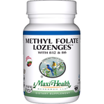 Maxi Health - Methyl Folate Lozenges With B12 & B6 - Berry Flavor - 90 Lozenges MH-3171-01