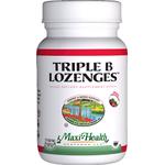 Maxi Health - Triple B Lozenges - as methylcobalamin - Strawberry Flavor - 90 Lozenges MH-3175-01