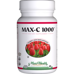 Maxi Health - Max-C 1000 mg - Kosher Vitamin C & Bioflavonoids - 100 Tablets MH-3180-01