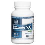 Nutri Supreme - Vitamin D3 5000 IU - 180 Softgels NS-6095-01