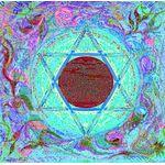 "Maguen David ink colors- Sandrine Kespi Creations printable pdf-  all wording- ketubah to fill - 23.4x 23.4""- 60x60cm pdf 1413"