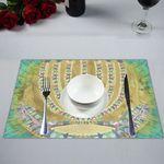 "Menorah Placemat-14x19""- Sandrine Kespi Creations design placemat 14x19-candelar"