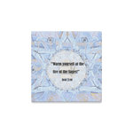 """One quote a day- streched canvas on wood frame-  Sandrine Kespi Creations- hand painted design -print on canvas ready to hang-12x12"""" one quote a day streched on canvas-"""