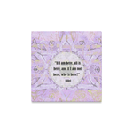 "One quote a day- streched canvas on wood frame-  Sandrine Kespi Creations- hand painted design -print on canvas ready to hang-12x12"" [CLONE] one quote a day streched on canvas-"