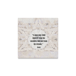 "One quote a day- streched canvas on wood frame-  Sandrine Kespi Creations- hand painted design -print on canvas ready to hang-12x12"" one quote a day streched on canvas-"