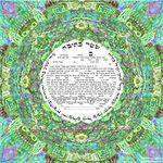 "Jerusalem 's energy- 3D effect- Sandrine Kespi Creations printable pdf-  interfaith, Reform or any other wording- ketubah to fill - 17x17""- 42x42cm pdf Jerusalem's energy 1465"