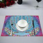 "Placemat Menorah -14x19""- Sandrine Kespi Creations design placemat 14x19-candelar"