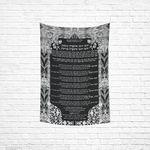 "Ushpizin prayer tapestry- Sandrine Kespi Creations- hand painted design -print on cotton linen fabric- special Sukkot- 40x60"" ushpizin tapestry 1-3"