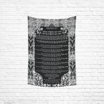 "Ushpizin prayer tapestry- Sandrine Kespi Creations- hand painted design -print on cotton linen fabric- special Sukkot- 51x60"" [CLONE] ushpizin tapestry 1-3-2"