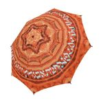 "Hebrew alphabet mandala -Judaica gift- Semi automatic large umbrella-Sandrine Kespi Creation design-can open with one hand in one second-long handle 20.4""-  coverage 42.5""-rain and sun [CLONE] semi automatic large umbrella- Hebrew alphabet"