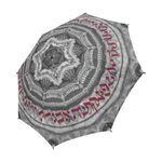 "Hebrew alphabet mandala -Judaica gift- Semi automatic large umbrella-Sandrine Kespi Creation design-can open with one hand in one second-long handle 20.4""-  coverage 42.5""-rain and sun semi automatic large umbrella- Hebrew alphabet"
