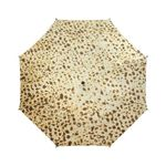 "Motsi Matzo! -Judaica gift- Semi automatic large umbrella-Sandrine Kespi Creation design-can open with one hand in one second-long handle 20.4""-  coverage 42.5""-rain and sun semi automatic large umbrella- Hebrew alphabet"