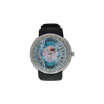 "Hebrew alplabet-Judaica- Men's resin strap watch-1.77"" diameter-think, modern and original gift-Sandrine Kespi Creations design-collection watch [CLONE] men's resine strap watch-Hebrew alphabet"