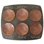 Blackthorne Forge Iron Rectangular Passover Seder Plate BT-SED4