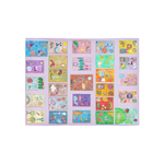 "Hebrew alphabet area rug-5'3""x4'-Sandrine Kespi Creations design- washable and resistant- special kids-soft and light- original judaica gift-educational gift area rug 5'3""x4'-Rabbi shalom Hebrew alphabet- pink"