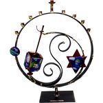 Gary Rosenthal Star of David and Dreidel Circle Menorah GR-A85D