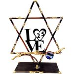 Gary Rosenthal 25th Anniversary Love Sculpture With Star of David GR-LOVE25L