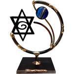 Gary Rosenthal Star of David Sculpture With Glass Bead GR-STAR4