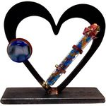 Gary Rosenthal Heart Sculpture With Wedding Glass Tube GR-WK25