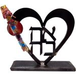 Gary Rosenthal Ahava Sculpture With Wedding Glass Tube GR-WK25H