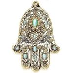 Michal Golan Cats Eye and Freshwater Pearl Wall Hamsa MG-GL13