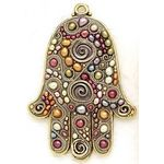 Michal Golan Colorful Freshwater Pearl Wall Hamsa MG-GL22