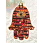 Michal Golan Swarovski Crystal Wall Hamsa in Autumnal Shades MG-GL34